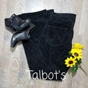 TALBOT'S BLACK CORDUROY 5 POCKET JEANS, SIZE 10